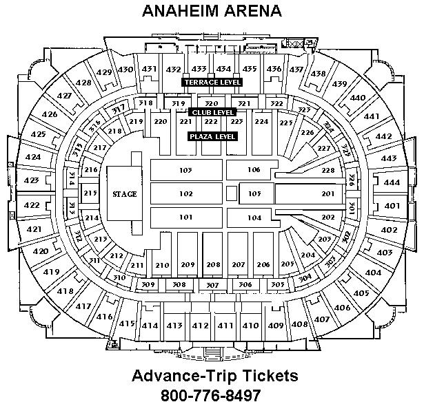 Advance Tickets Seating Charts